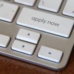 "Keyboard depicting a key that states ""Apply Now"""