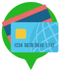 Graphic of a credit card - Apply for a credit card.