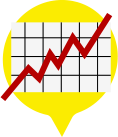 Graphic of a line graph - Rates